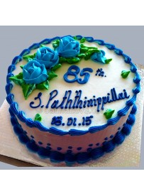 Blue Round Cake