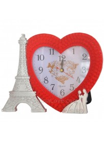 Eiffel Tower Love Heart Clock