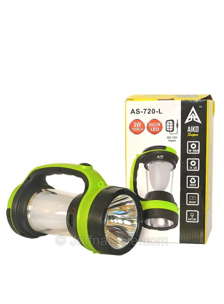 Aiko Super Led Torch & Lamp With Solar