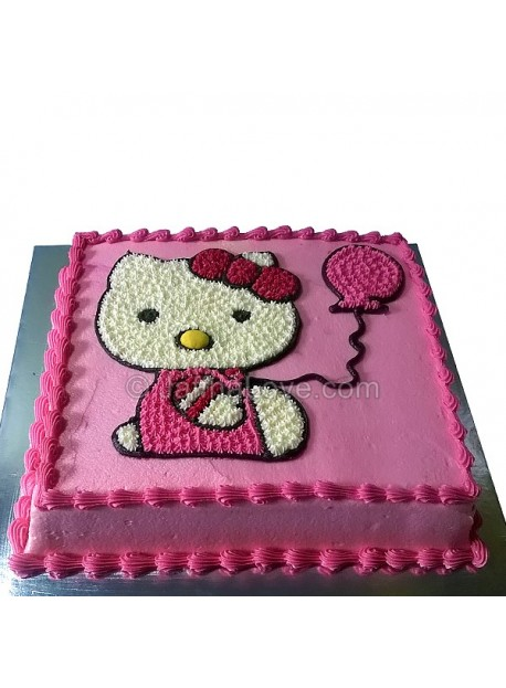 Balloon Kitty Cake