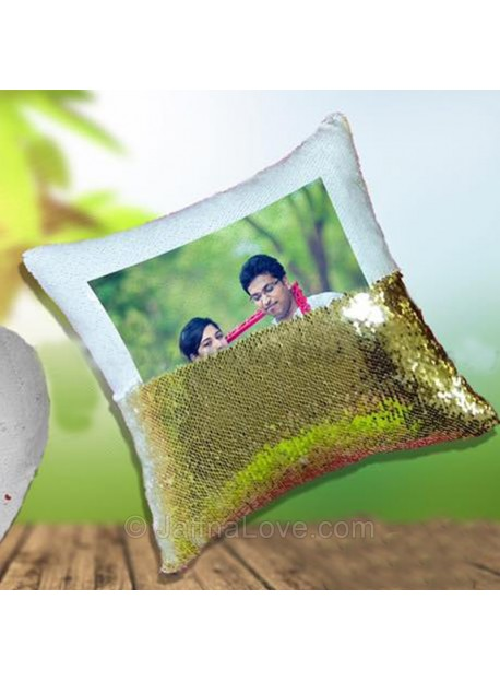 Magic Pillow Reversible Sequins With Photo