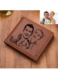 Engraving Picture Wallet (Genuine Leather)