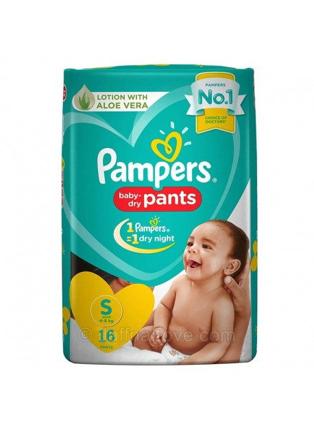 Pampers Baby Dry Pants -Size S (4-8Kg) - 16 Pants