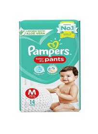 Pampers Baby Dry Pants - Size M (7-12Kg) - 14 Pants