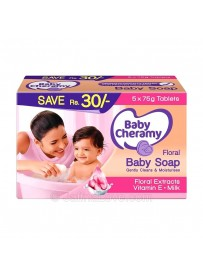 Baby Cheramy Baby Soap - 75g - 5 Tablets Pack