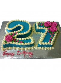 27th Birthday Cake