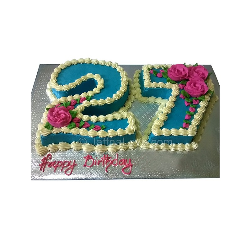 Terrific 27Th Birthday Cake Jaffnalove Com Funny Birthday Cards Online Inifofree Goldxyz