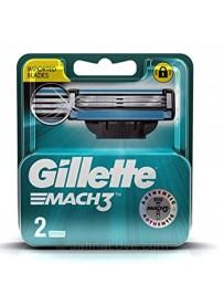 Gillette Mach 3 Shaving Razor Blades - 2 Pcs Pack