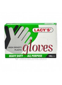 Lacy's High-Density Plastic Gloves - 1 Box(100pcs)