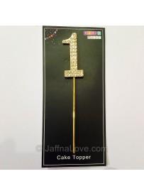Diamond-studded Cake Topper - No1