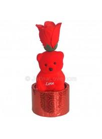 Teddy Bear With Rose
