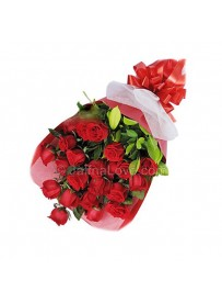 Red Roses In A Bunch