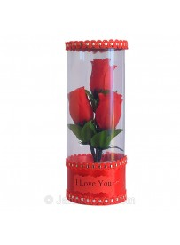 3 Roses in the Vase (Artificial Rose)