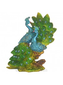 Peacock Couple Statue