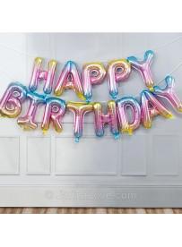 Happy Birthday Letter Foil Balloons - 16 inch (40cm)