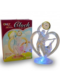 Dancing Couple Table Clock With Light