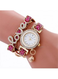 Womens Wrist Watch with Love Tag