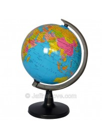 Educational Rotating World Map Sphere