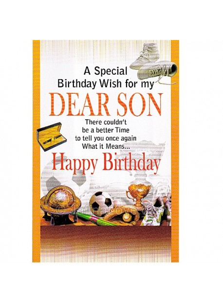 Birthday Card For Son
