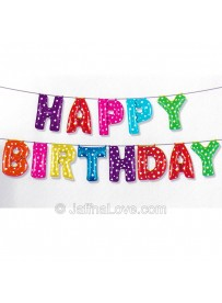 Happy Birthday Letter Foil Balloons