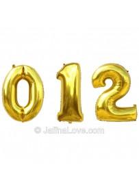 Numeral Birthday Foil Balloons - 40cm