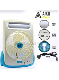 Aiko Rechargeable Fan + LED Light & Torch
