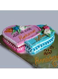Double Heart Cake